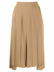 Nº21 pleated asymmetric skirt - Neutrals