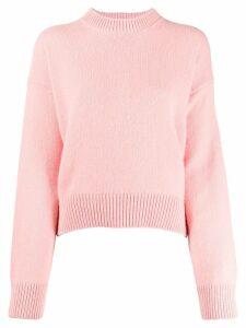 Laneus crew-neck knit sweater - Pink