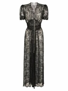 Paco Rabanne sheer lace midi dress - Black