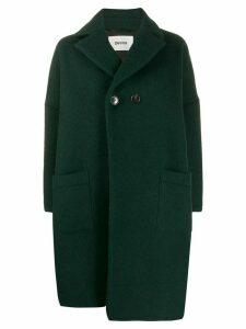 Zucca asymmetric midi coat - Green