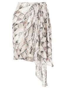 Isabel Marant knotted side skirt - Neutrals