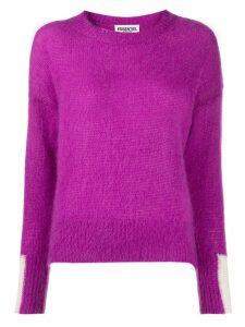 Essentiel Antwerp crew-neck knit sweater - PURPLE