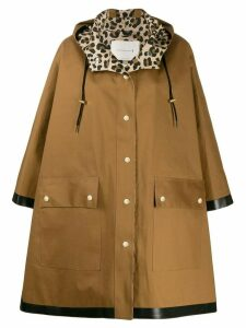 Mackintosh oversized parka coat - Brown