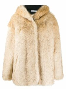 IRO faux fur coat - Neutrals