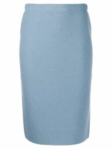 D.Exterior reversible knitted skirt - Blue