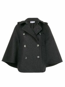 Red Valentino double breasted cape - Grey