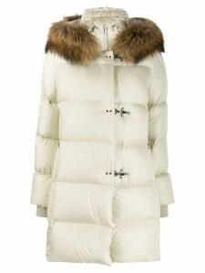 Fay lobster-fastening padded coat - Neutrals