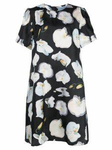 Jonathan Cohen Abstract Orchid print dress - Black