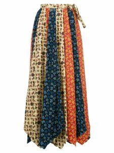 Jonathan Cohen panelled asymmetric skirt - Red