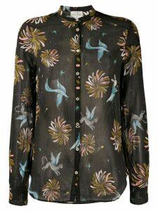 Forte Forte bird print shirt - Black