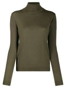 Aspesi fine knit roll neck sweater - Green