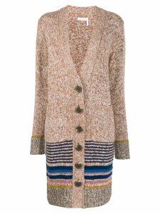 See By Chloé striped trim cardigan - Brown