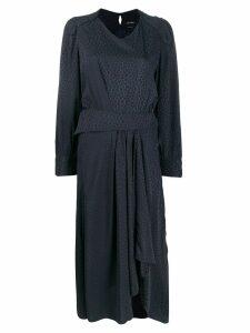 Isabel Marant Romina printed asymmetric dress - Black