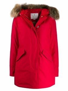Woolrich hooded padded coat - Red