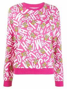 Moschino Teddy Bear print jumper - Pink