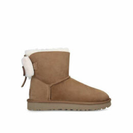 Ugg Classic Double Bow Mini - Brown Ugg Boot With Bows