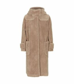 Long Hooded Teddy Coat