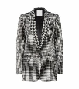 Houndstooth Check Tailored Blazer