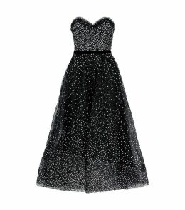 Strapless Sequin-Embellished Dress