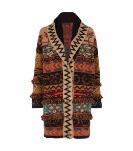Zigzag Knit Coat