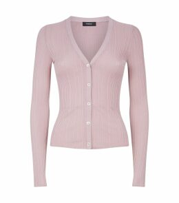 Pointelle Buttoned Cardigan