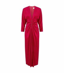 Rita Ruched V-Neck Dress