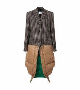 Tartan Wool Coat with Detachable Gilet
