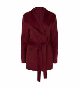 Lima Short Wool-Cashmere Belted Coat