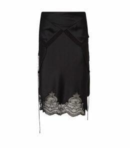 Deconstructed Fold-Over Slip Skirt