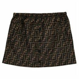Fendi All Over Logo Print Skirt