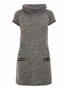 Womens *Quiz Grey Cowl Neck Short Sleeve Shift Dress- Grey, Grey