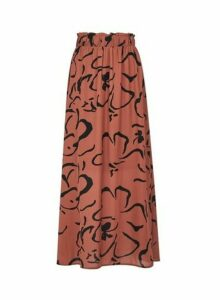 Womens **Vero Moda Brown Printed Skirt- Brown, Brown