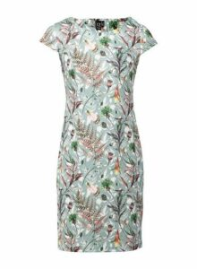 Womens *Izabel London Multi Colour Botanical Print Bodycon Dress- Green, Green