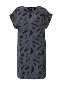 Womens *Izabel London Navy Geo Print Shift Dress, Navy