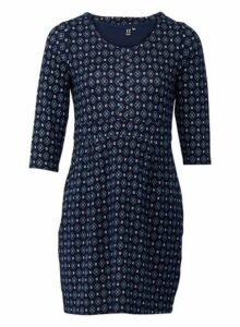 Womens *Izabel London Navy Geometric Print Shift Dress, Navy