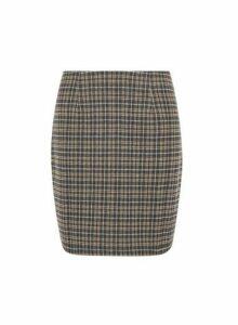Womens **Vero Moda Multi Colour Check Print Skirt- Black, Black