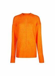 Womens **Tall Orange Chunky Knit Jumper- Orange, Orange