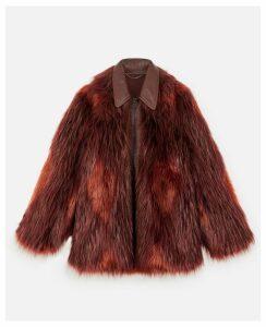 Stella McCartney Purple Fur Free Fur Jacket, Women's, Size 12