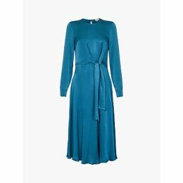 Ghost Mindy Satin Dress, Teal