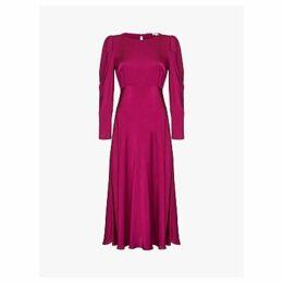 Ghost Rosaleen Satin Dress, Boysenberry