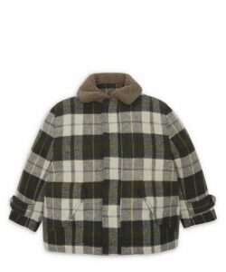 Check Jacket With Teddy Bear Collar 2-8 Years