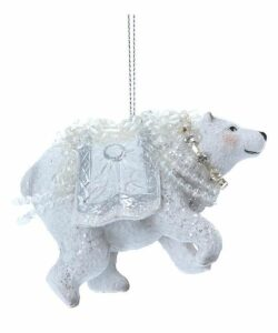 Resin Dress Polar Bear Ornament