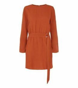 AX Paris Orange Long Sleeve Belted Dress New Look