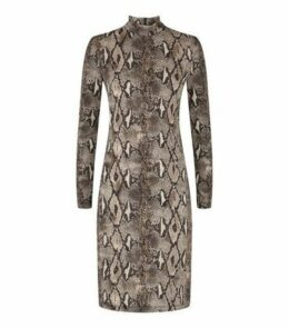 Mela Multicoloured Snake Print Dress New Look