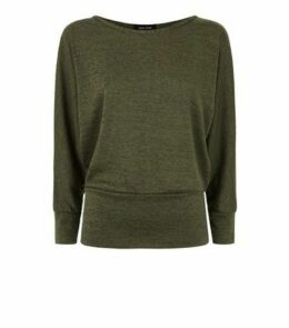 Khaki Fine Knit Batwing Jumper New Look