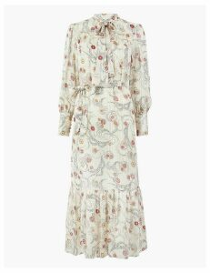 M&S Collection Floral Print Relaxed Midi Dress