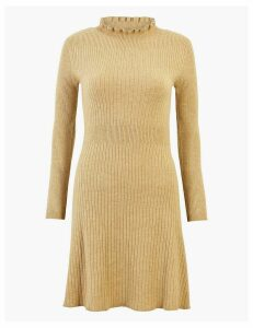 M&S Collection Ruffle Knitted Mini Dress