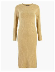M&S Collection Knitted Ribbed Column Mini Dress