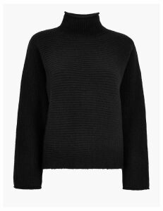 M&S Collection Ribbed Turtle Neck Jumper