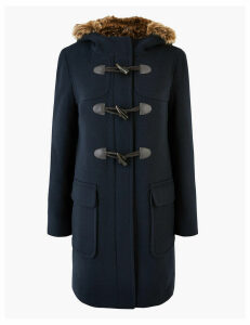 M&S Collection PETITE Duffle Coat